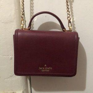 Never used maroon Kate spade purse